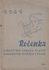 Ročenka sirotčího spolku členů národního divadla v Praze - 1941 ant.