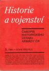 Historie a vojenství 5. číslo 1993/XLII Časopis historického ústavu armády ČR